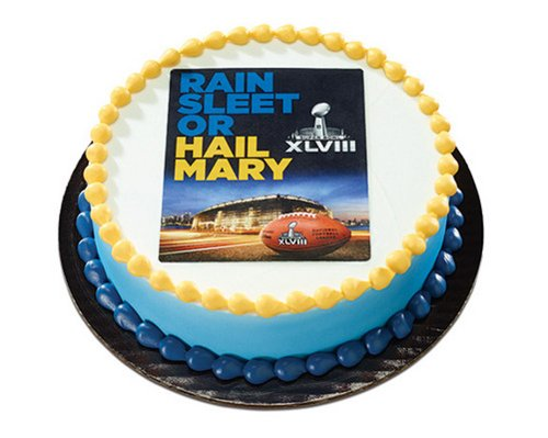 Super Bowl Xlviii Rain Sleet Or Hail Mary Edible Image - 12pk