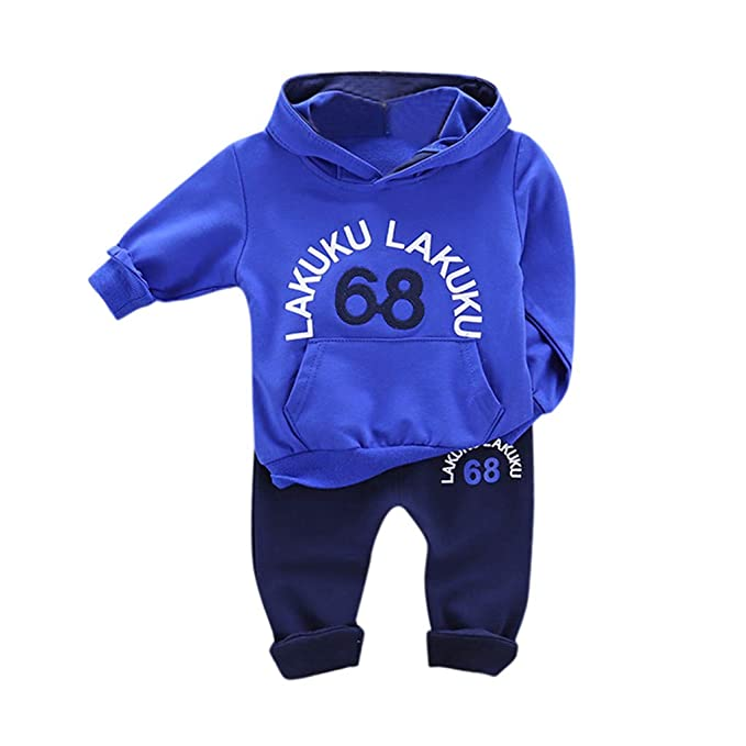 Toddler Kids Baby Boy Girl Batman Hooded Sweater Tops Pants Outfits Set Romper