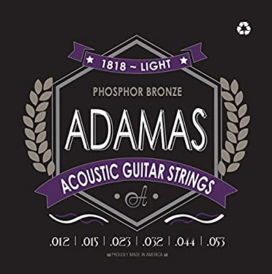 Adamas OV1818E Light (.012-.053 ga) Phosphor Bronze Acoustic Guitar Strings by Adamas Strings