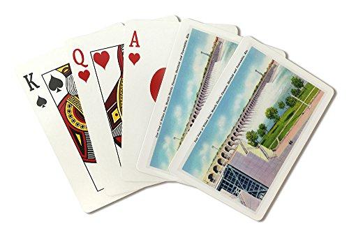 (Alabama - Eastern View of the Wilson Dam (Playing Card Deck - 52 Card Poker Size with Jokers))