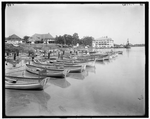 Photo: Lakeside club,waterside,Reeds Lake,East Grand - Lakeside Map Store