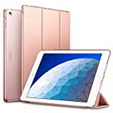 ESR Yippee Trifold Smart Case Specially Designed for iPad Air 3 10.5' 2019, Auto Sleep/Wake Lightweight Stand Case, Hard Back Cover for iPad Air (3rd Gen) 10.5' 2019, Rose Gold