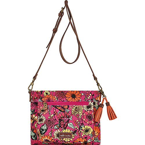 Sakroots Small Camden Bloom in Raspberry Crossbody SwRFwnUP