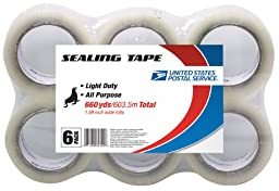 LePage\'s USPS All Purpose Sealing Tape, 1.89 inches x 660 yards , 6 Pack (82302)