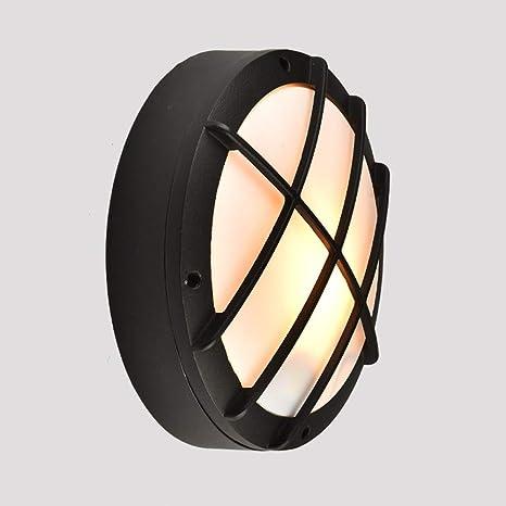 Amazon.com: Lámpara de techo redonda resistente al agua, LED ...