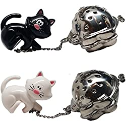 Joie Black and White Meow Tea Infuser 2-Pack