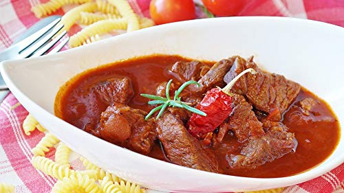 Home Comforts Peel-n-Stick Poster of Meat Cook Goulash Main Course Beef Eat Court Vivid Imagery Poster 24 x 16 Adhesive Sticker Poster Print
