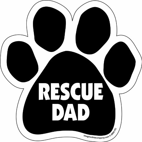- Imagine This Paw Car Magnet, Rescue Dad, 5-1/2-Inch by 5-1/2-Inch