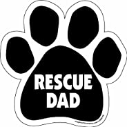 Imagine This Paw Car Magnet, Rescue Dad, 5-1/2-Inch by 5-1/2-Inch