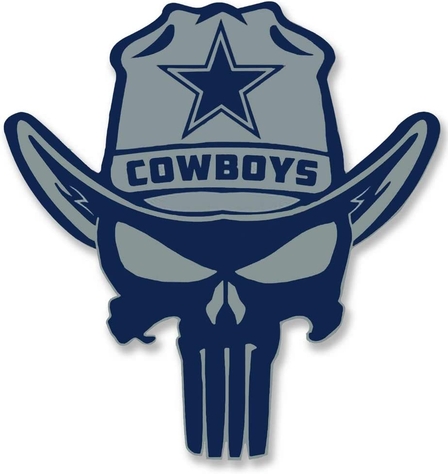 NFL Football Dallas Cowboy Punisher Stickers Team Colors Dallas Star Sticker Decal Vinyl Blue Star Sticker for car bamper Any Size Waterproof 3 in