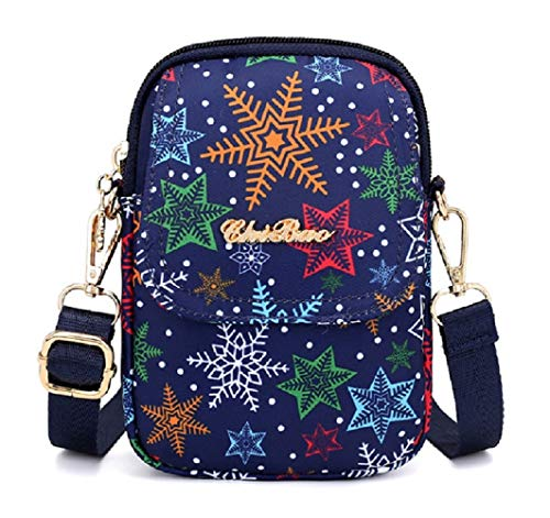 3 B Babyprice Wristlet Style Purse Pouch Layers Snowflake Cellphone Crossbody Nylon Zipper Running Armband Bag FqCwaq