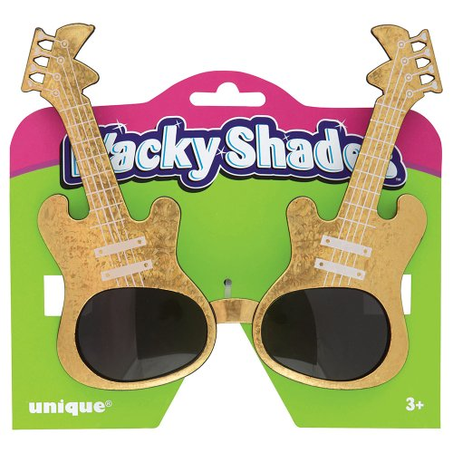 Gold Guitar Novelty Glasses by Unique