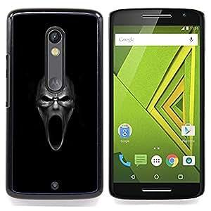 Evil Howl Skull - Goth Caja protectora de pl¨¢stico duro Dise?ado King Case For Motorola Verizon DROID MAXX 2 / Moto X Play