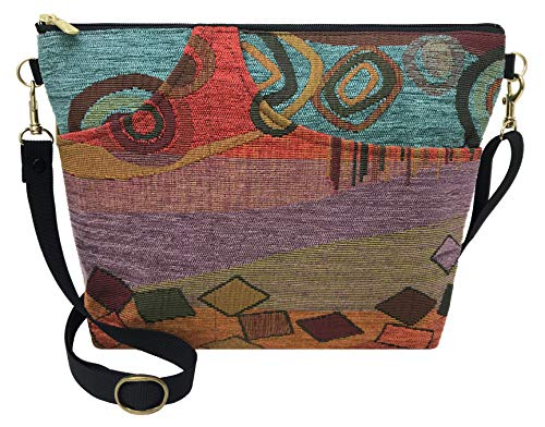 (Danny K. Women's Tapestry Bag Shoulder Handbag, Large Zipper Purse Handmade in the USA (Wild)