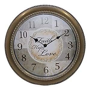 Amazon Com Mainstays 12 Inch Inspirational Clock Faith