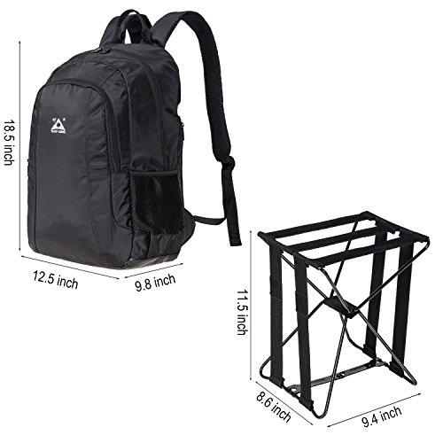 Large Capacity Backpack and Portable Folding Cooler Chair BigTron Multi-Functional Backpack Stool Combo Perfect for Camping Fishing Hiking Picnic Outdoor Watching Sports Events BBQ