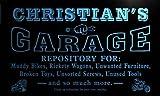 pp1564-b Christian's Garage Repair Shop Room Bar Beer Neon Light Sign