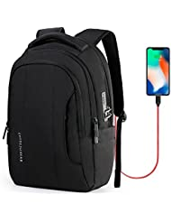 CrossGear Slim Anti Theft Laptop Backpack for Men Business School Travel Computer Bag with USB Charging Port Fit...