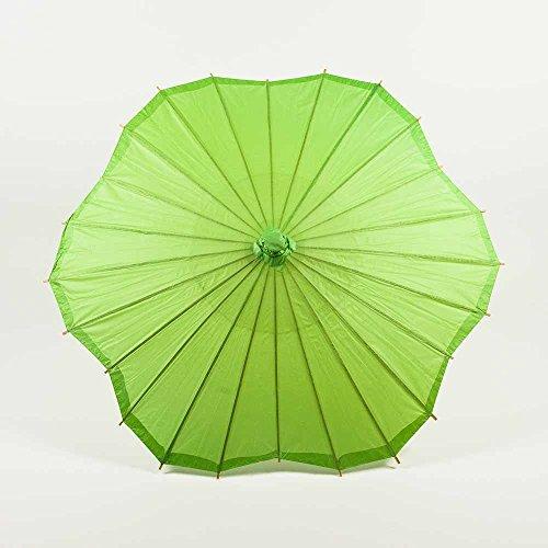 Quasimoon PaperLanternStore.com 32 Inch Grass Green Paper Parasol Umbrella, Scallop Shaped (Parasol Buy Sun)