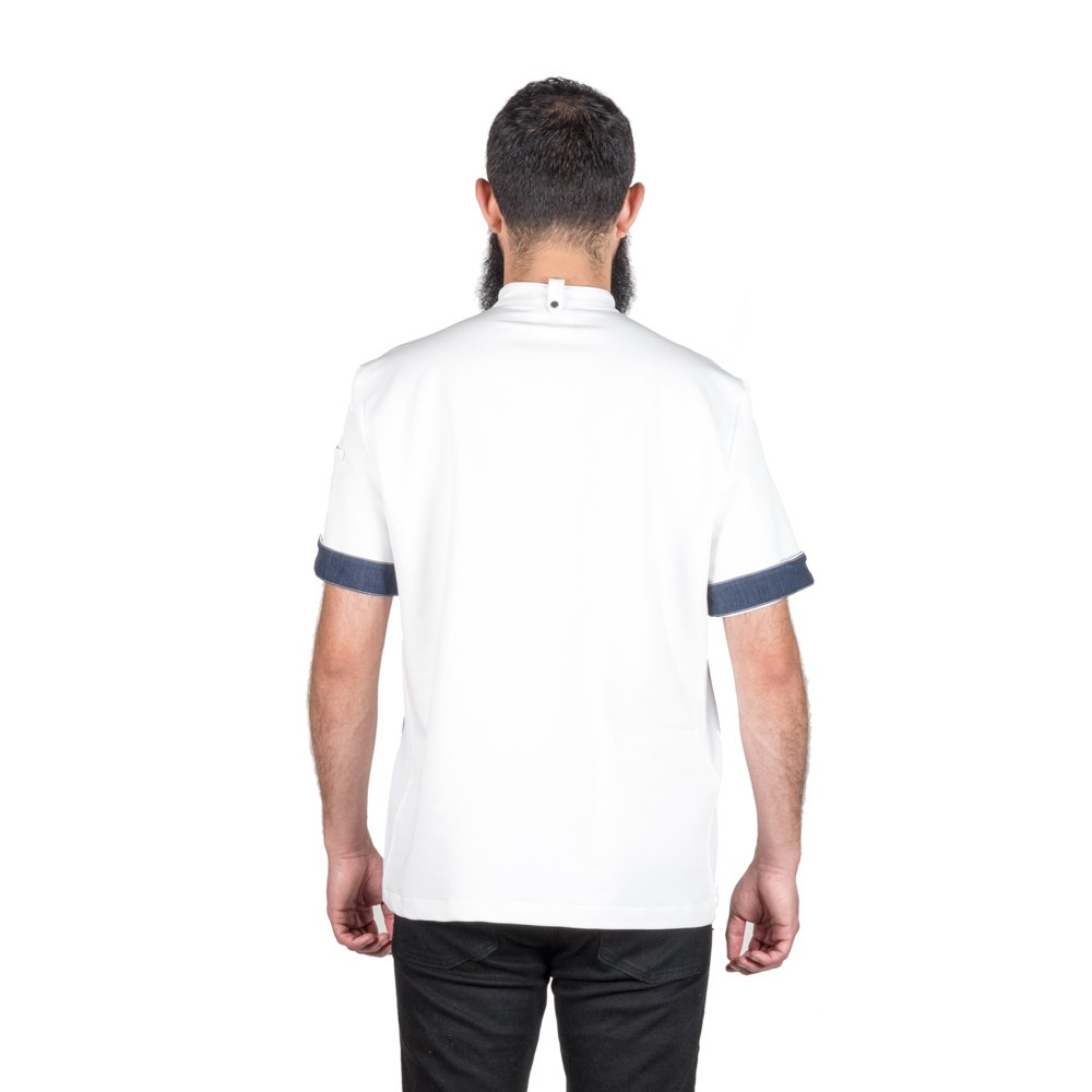Crew Apparel Men's Chef Coat The Hipster Made In America … (Small, White) by Crew Apparel (Image #2)
