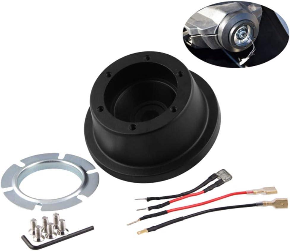 Semoic Car Steering Wheel Short Wheel Hub Adapter for Mustang Steering Wheel Base Connector