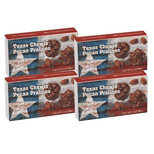 Lammes Candies Texas Chewie Pecan Praline 2 Ounce Gift Box - Pack of 4