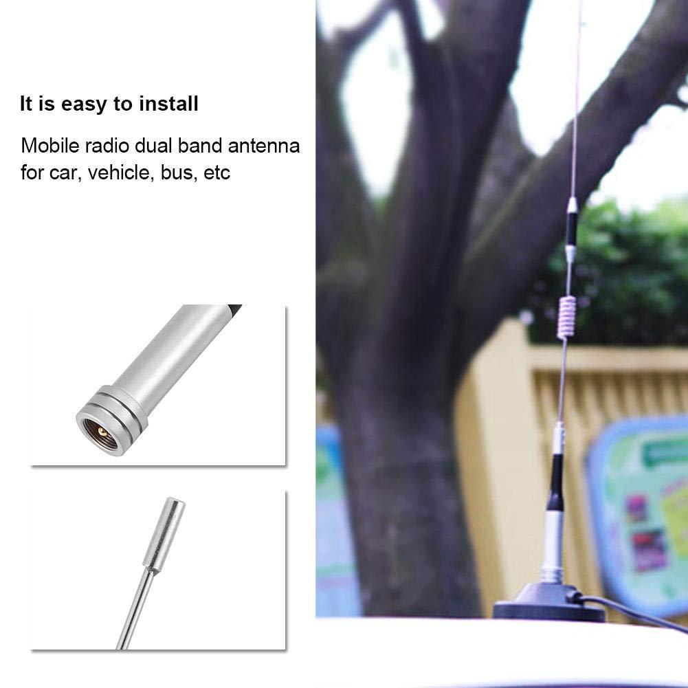 Yoidesu SG-M507 Mobile Radio Dual Band Antenna UHF//VHF 144//430MHz 100W High Gain Dual Band Mobile Antenna for Car Vehicle