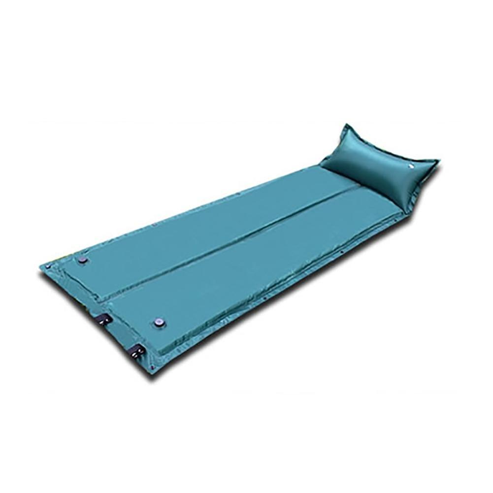 MIAO Automatische aufblasbare Auflage/Luftmatratzen, im Freien faltender Schwamm-Schlafenauflage , Grün