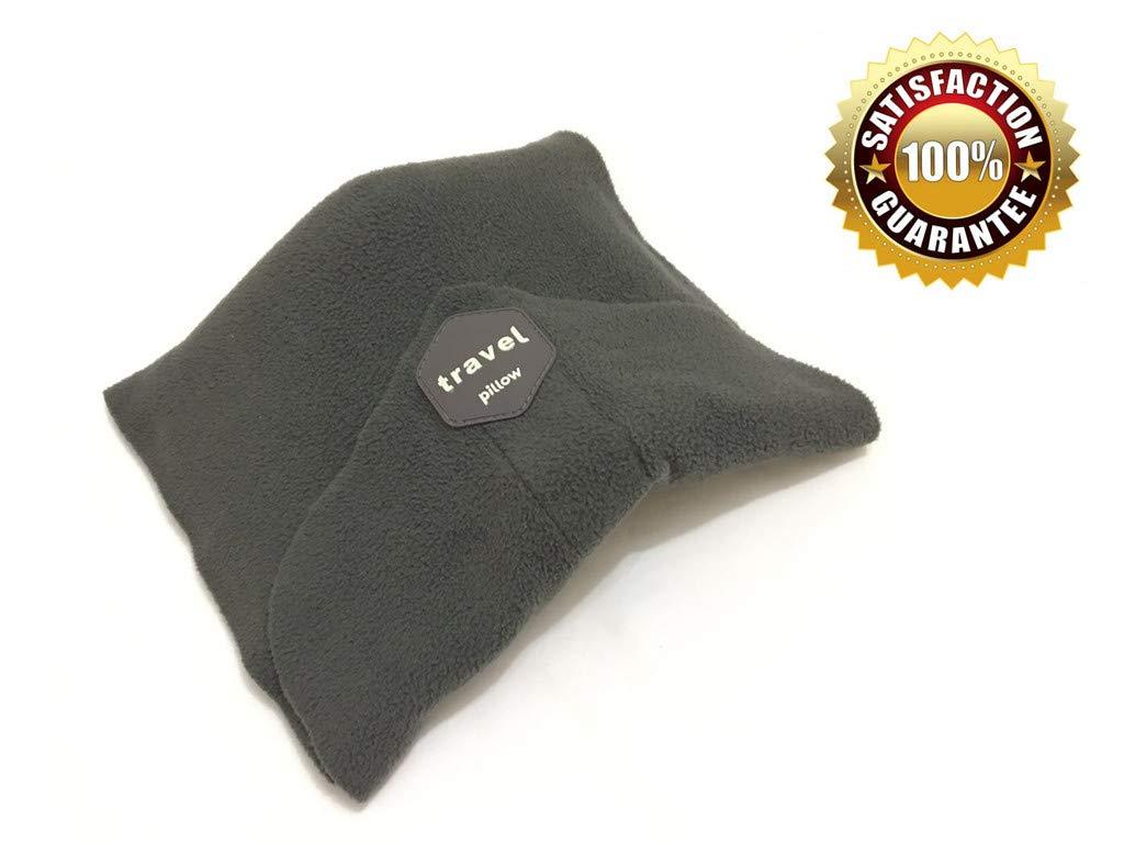 快適な旅行pillow-superソフトネック&ヘッドサポートpillow-for Travelling on飛行機、バス、および自宅やオフィスtrain- Well Sleepまたはsnap-ポータブル&洗濯可能 S グレー  グレー B07C4KV1FQ