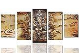 Sunrise Art Canvas Prints Framed Hindu Fairy Wall Art India Ganesha Yoga Goddess Ready to Hang set of 5