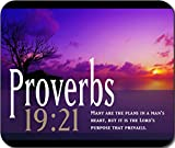 Proverbs 19:21 Bible Verse Large Mousepad Mouse Pad Great Gift Idea