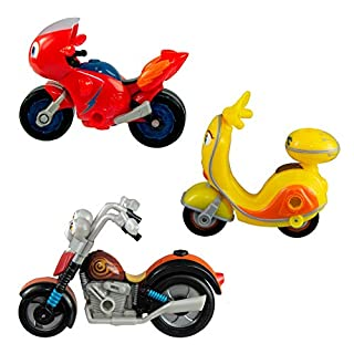 Ricky Zoom Hank, Maxwell & The Bike Buddies Motorcycle Toys (Set of 3)