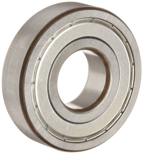 FAG 6305-2ZR-C3 Deep Groove Ball Bearing, Single Row, Double Shielded, Steel Cage, C3 Clearance, Metric, 25mm ID, 62mm OD, 17mm Width, 11000 rpm Maximum Rotational Speed, 2600 lbf Static Load Capacity, 5000 lbf Dynamic Load Capacity