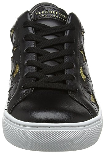 Gold M Skechers Leather Ausbilder Black Damen Patent Black Street Schwarz Side xRRqwPAv0S