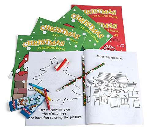 Holiday Character Fun Coloring Activity Books Christmas Stocking Stuffers, Chrimstmas Party Supplies, X-mas Activity Books (Pack of 12) (Entertainment Children's Ideas Christmas Party)