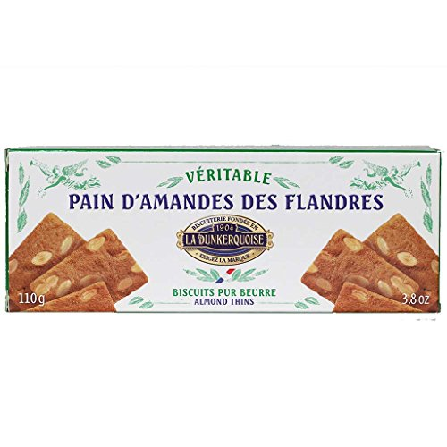 La Dunkerquoise French Thin Cookies, Vintage Tray 110g (Almond)