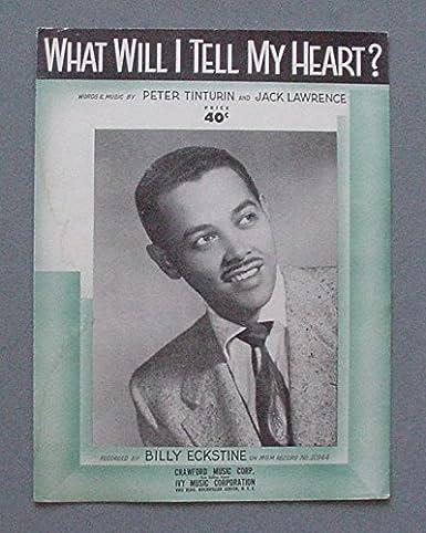 BILLY ECKSTINE SHEET MUSIC  1937  BLACK SUPERSTAR - GREAT