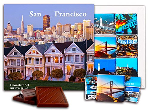 DA CHOCOLATE Candy Souvenir SAN-FRANCISCO Chocolate Gift Set HOTELS WHOLESALE edition 5x5in 1 box (Housing)