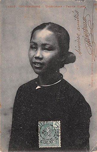 Thudaumont Femme Buste Cochinchine Vietnam, Viet Nam Postcard