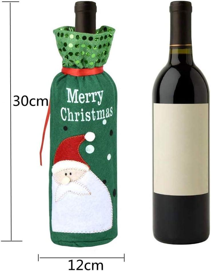 Weihnachtsmann Wein Flasche Cover Geschenktüte Christmas Dinner Party Xmas Neu