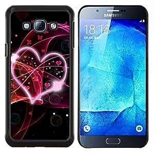 EJOOY---Cubierta de la caja de protección para la piel dura ** Samsung Galaxy A8 A8000 ** --Amor Oye Resumen