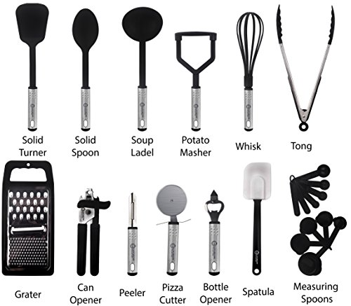 Cooking Utensils Set – 23 Pieces – Nylon Kitchen Utensils/Gadgets / Cookware Sets – By Lux Décor Collection