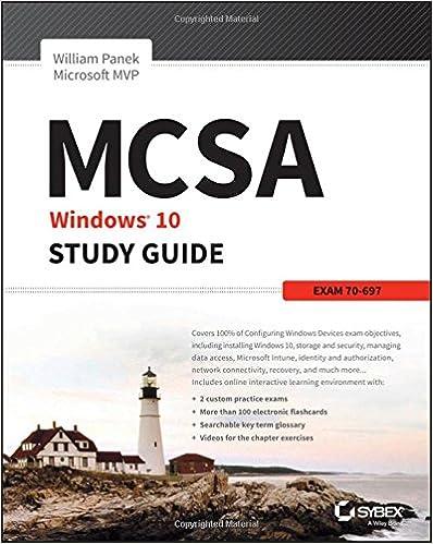 amazon com mcsa microsoft windows 10 study guide exam 70 697
