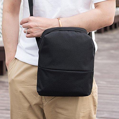 Messenger Noir De Les Poitrine Mode Homme Taille Main Épaule Bourse Pochettes Crossbody Bag Winjin Business Sac Sacoche Petit Bandouliere Portés qxAwH6