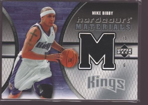 MIKE BIBBY 2005-06 UD HARDCOURT GAME USED WORN JERSEY PATCH SP KINGS (Hardcourt Game)