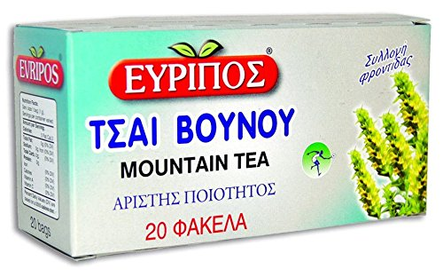 20 Bags 24gr 0.84oz Greek Natural Product Mountain Tea Evripos Top Quality by Evripos