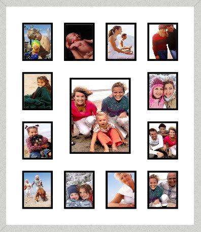Frames by Mail Collage Marco con doce cuadrado Apertura para 10,2 x ...