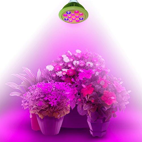 Imurz PAR38 E27 24W Led Plant Grow Bulbs Full Spectrum Led Grow Lights for indoor Plants Hydroponic Garden Greenhouse (24W) by imurz