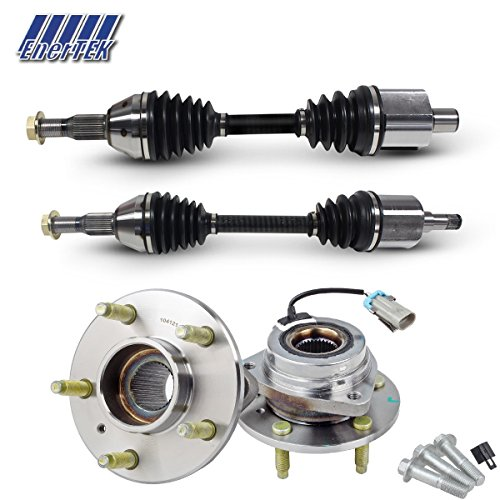 2 CV Axle Drive Shaft & 2 Wheel Hub Bearings for Buick Century 2000-2005, Buick Regal 1997-2004, Chevy Impala 2004-2011, Buick Lacrosse 2005-2009, Chevy Monte Carlo 2000-2003 (Left Right - Set Axle Shim