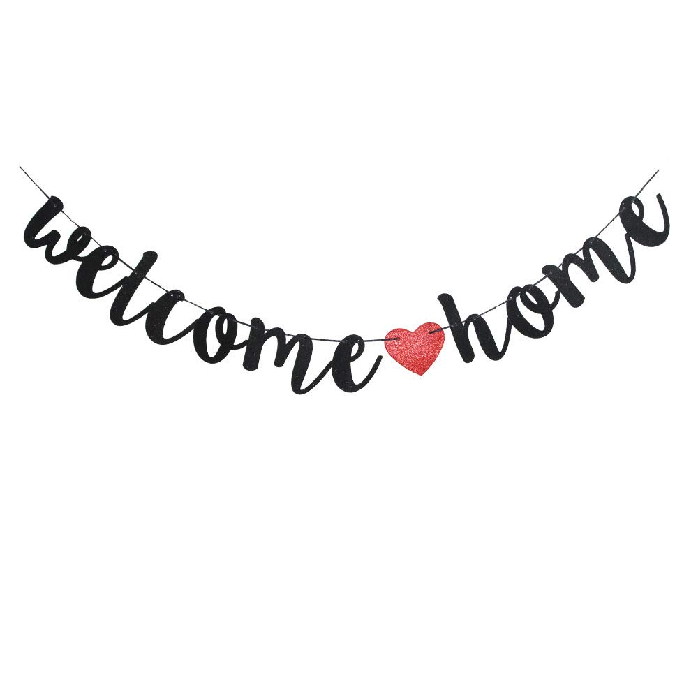 Welcome Home Banner, Funny Paper Sign for Family Theme Party Decorations, Home Party Supplies